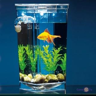 Маленький акваріум для риб - наноакваріум My Fun Fish з системою самоочищення