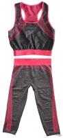 Женский спортивный костюм для фитнеса (Copper) одежда для тренировок Yoga Wear Suit Slimming