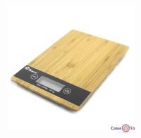 Ваги кухонні Domotec MS-A - дерев'яні електронні ваги