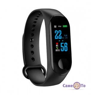 Фитнес браслет Xiaomi Mi Band 3 (аналог) - браслет шагомер Intelligence health bracelet M3