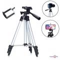 Тренога для фотоаппарата Tripod 3120 Silver - штатив для камеры и телефона