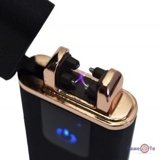 Импульсная зажигалка Classic Fashionable (5402) - плазменная зажигалка с USB (черная матовая)