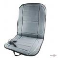 Универсальная накидка на сиденье авто с подогревом 45х95см, Серая