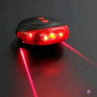Задний стоп фонарь на велосипед с лазером - мигалка для велосипеда SL-116