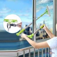 Телескопічна щітка для миття вікон - швабра для вікон з мікрофіброю