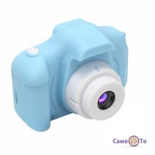 Первый детский фотоаппарат Summer Vacation Cam - фотокамера для детей, Голубая