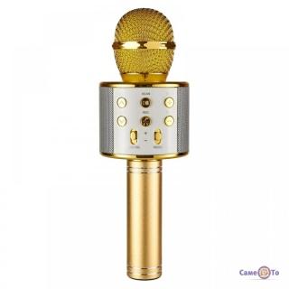Караоке микрофон с динамиком WSTER WS 858 - юсб микрофон для записи голоса