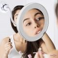Дзеркало кругле з підсвіткою та 10-кратним збільшенням у ванну Flexible Mirror 10X