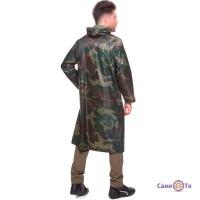 Куртка дождевик мужская PZ-TY-0531_1 - плащ от дождя на молнии с рукавами (камуфляж американский)