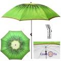 Большой зонт пляжный от солнца - садовый зонт с наклоном Киви, 1.8 м