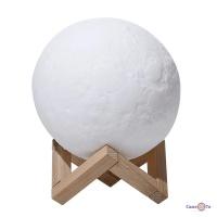 Дитячий приліжковий світильник нічник Місяць 3D Moon Light