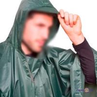 Дощовик пончо з капюшоном PZ-TY-0548_1 - плащ палатка, темно-зелена