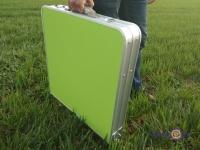Розкладний стіл на природу - зелений стіл для пікніка у валізі Folding table + 4 стільця