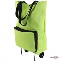 Господарська сумка на колесах - сучасна кравчучка з тканинними ручками