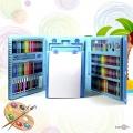 Детский набор для рисования - подарочный набор для детского творчества (208 предметов) Голубой