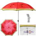 Большой пляжный зонт от солнца - зонтик для сада и пляжа Арбуз, 2 м