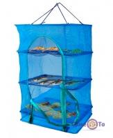 Сітка для сушки риби, фруктів на 3 полочки, 40х40х60 см