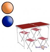Стіл для пікніка + 4 стільця Folding table - туристичні меблі для пікніка