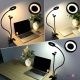 Штатив для телефону - кільцева селфі лампа на прищіпці Professional live stream