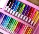Большой набор для рисования в чемоданчике - набор художника (208 предметов), розовый