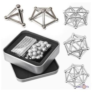 Магнітний конструктор Neo 36 паличок, 27 кульок, металік