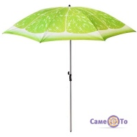 Парасолька пляжна посилена Лайм - велика парасоля на пляж, 2 м