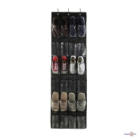 Органайзер для взуття на двері чорний 148*45 см 24 кишені