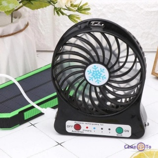 Настільний побутовий міні вентилятор з акумулятором Mini Fan XSFS-01 USB