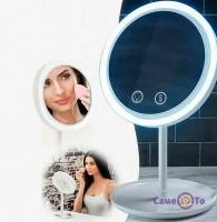 Косметичне дзеркало з 5 кратним збільшенням, підсвічуванням Beauty Breeze