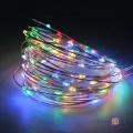 Світодіодна гірлянда нитка на батарейках (10 м, 100 LED, кольорова)