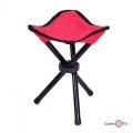 Стілець розкладний туристичний для рибалки стул для кемпінгу та відпочинку (Червоний)