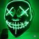 Маска на Хеловін - страшна маска з Судної ночі, світлодіодна