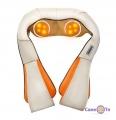 Роликовый массажер для спины и шеи Massager of Neck Kneading - массажная подушка с подогревом