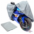 """Велочехол і накидка на мотоцикл Сіра """"Motocicleta cubierta"""" QW 015, розмір L (122х230 см)"""