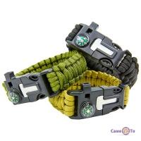 Браслет з паракорду Paracord Fire Starter Bracelet TY-6836 тактичний браслет туристичний