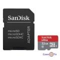 Карта памяти microSD SanDisk Ultra  32GB + SD адаптер - карта памяти для телефона
