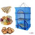 Сітка для сушки риби на 3 яруси 34.5х34.5х68 см сітка для сушки фруктів, риби, грибів (сетка для сушки рыбы)