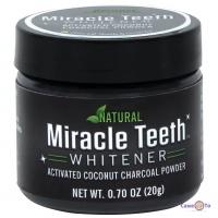 Відбілюючий порошок для зубів Miracle Teeth Whitener кокосовый порошок для відбілювання зубів