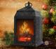 Лампа ночник Уют камина - это светильник ночник с имитацией огня