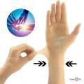Фіксатор великого пальця силіконовий з магнітами бежевий | фіксатор на зап'ястя