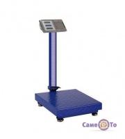 Торговые весы Domotec - весы товарные, до 350 кг, синего цвета