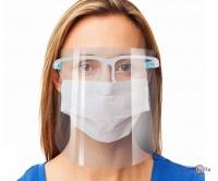Захисний медичний екран-маска для обличчя (кріплення по типу окуляр)