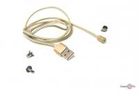 Магнітний кабель для зарядки M3 1000mm GOLD (Micro-USB, Lightning, Type-C)
