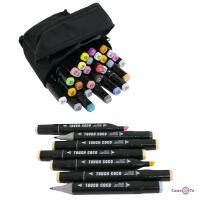 Двосторонні маркери для малювання Touch Coco(36 шт./уп. чоний корпус) фломастери