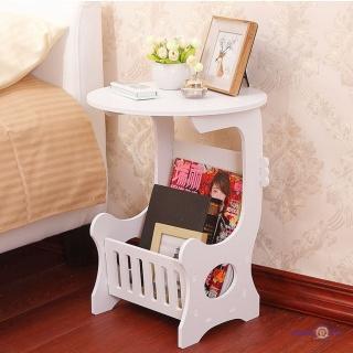 Маленький круглий приліжковий столик білий 36х46 см
