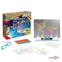 Магічна 3d дошка  для малювання Magic Drawing Board