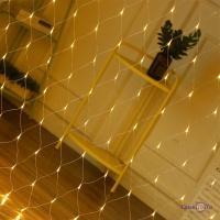 Гірлянда сітка на вікно Xmas Net WW 120 LED ламп, теплий білий 1.45х1.2 м