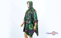 Пончо дождевик с капюшоном Woodland PZ-TY-6309_1 - дождевой плащ палатка (камуфляж флора)