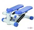 Міністеппер - спортивний тренажер степпер для ніг, гідравлічний Біло-голубий