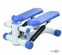Министеппер - спортивный тренажер степпер, гидравлический Бело-голубой